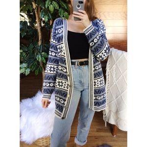 🌿 Vintage Cozy Fair Isle Wintery Cardigan 🌿
